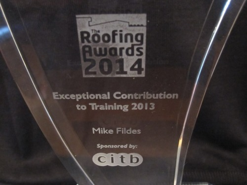 Exceptional Contribution to Training 2013 Award sponsored by CITB